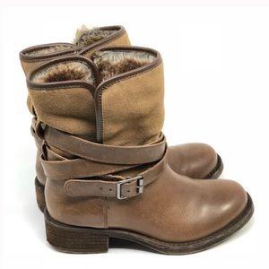 Lucky Brand Declann Boot Leather Biker Chic Boho